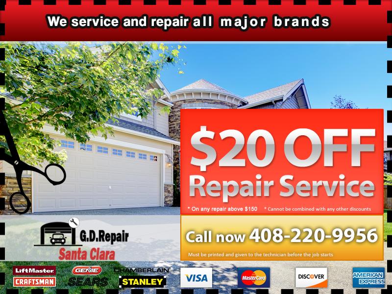 Garage Door Repair Santa Clara Coupon Santa Clara CA